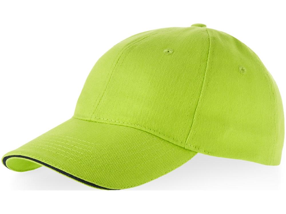 Бейсболка Challenge 6-ти панельная, зеленое яблоко/темно-синий