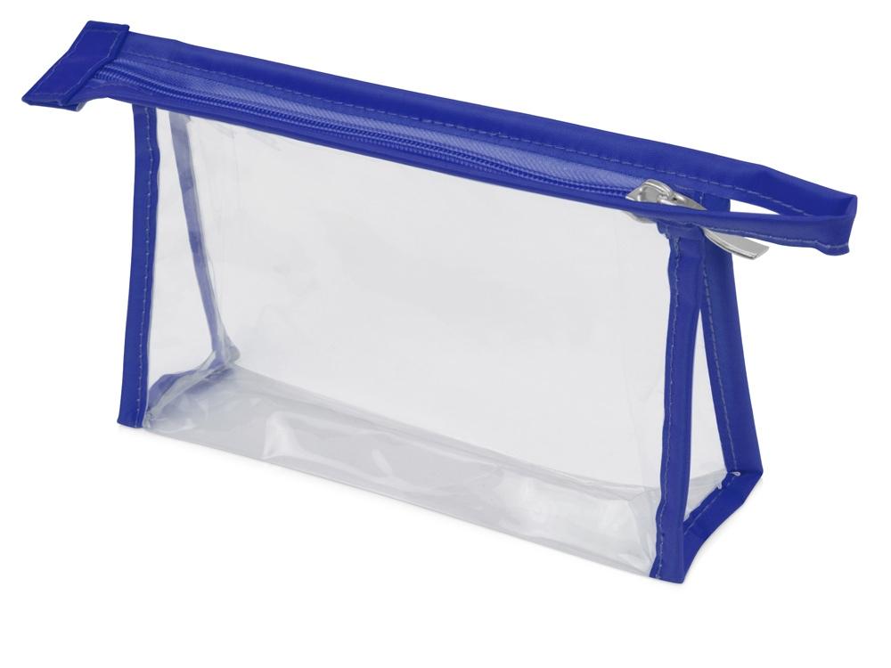 Прозрачнаяпластиковаякосметичка Lucy,синий