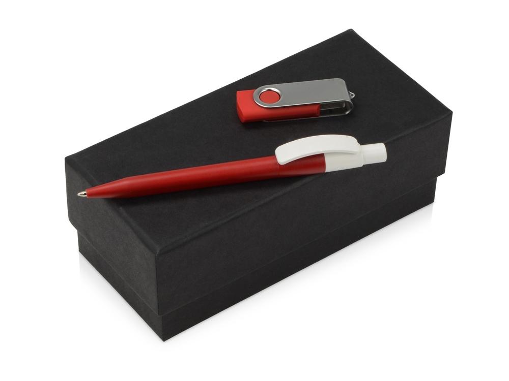 Подарочный набор Uma Memory с ручкой и флешкой, красный