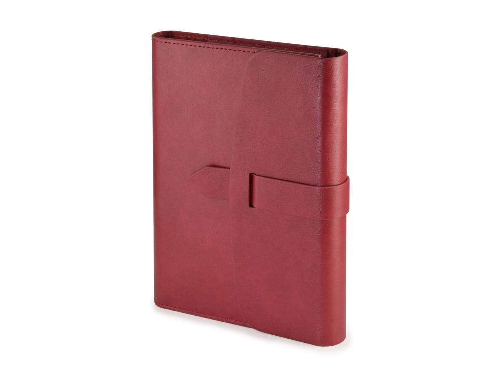 Ежедневник недатированный А5 Senate с магнитным клапаном, бордовый