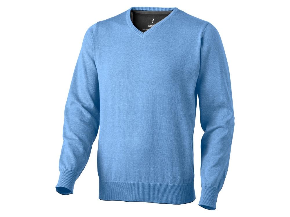 Пуловер Spruce мужской с V-образным вырезом, светло-синий