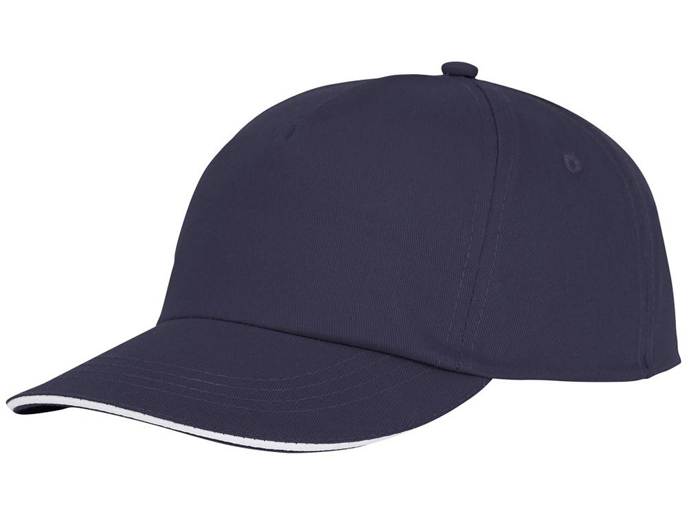 Пятипанельная кепка-сендвич Styx, темно - синий