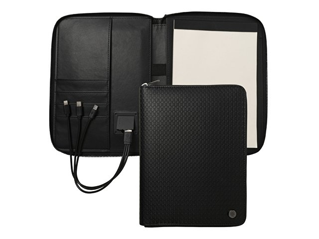 Папка А5 + портативное зарядное устройство Epitome Black
