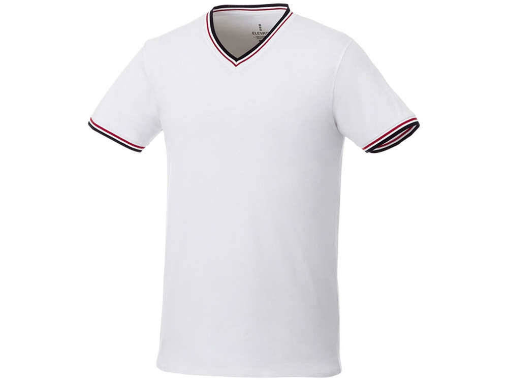 Мужская футболка Elbert с коротким рукавом, белый/темно-синий/красный