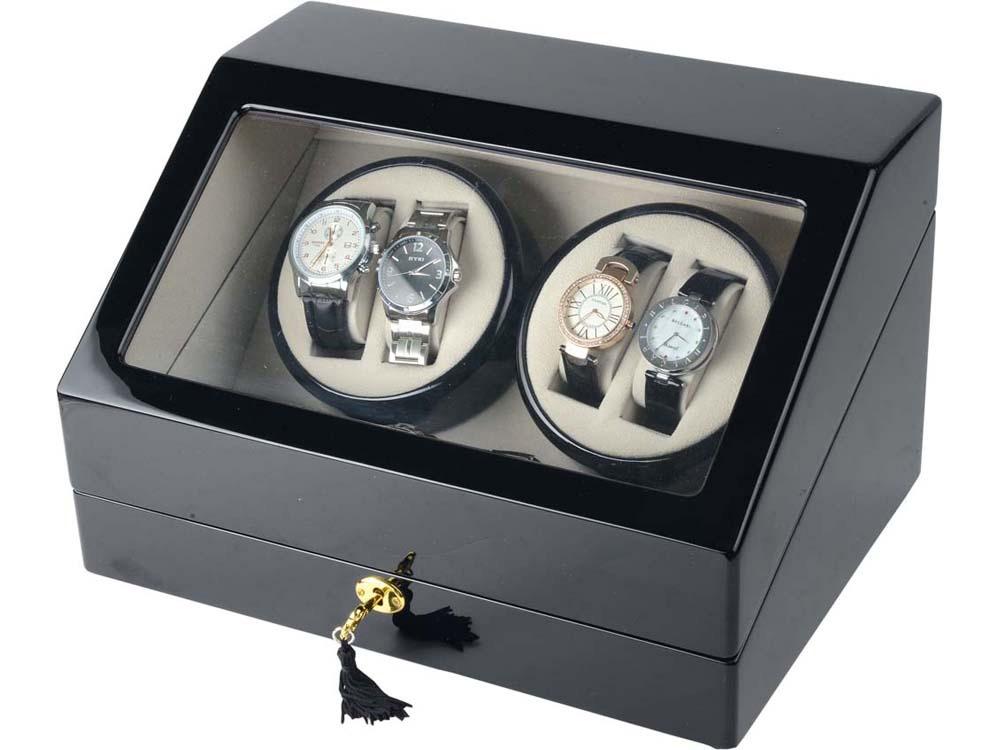 Шкатулка для часов с автоподзаводом Люцерн, черный