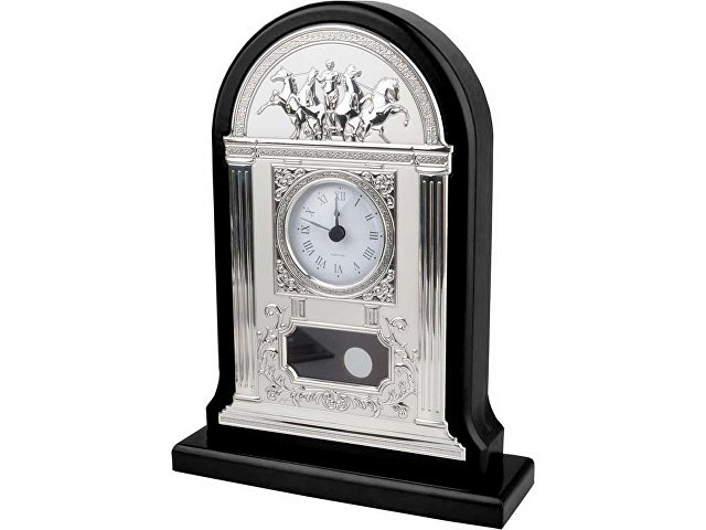 Часы настольные «Александр Македонский», серебристый/черный