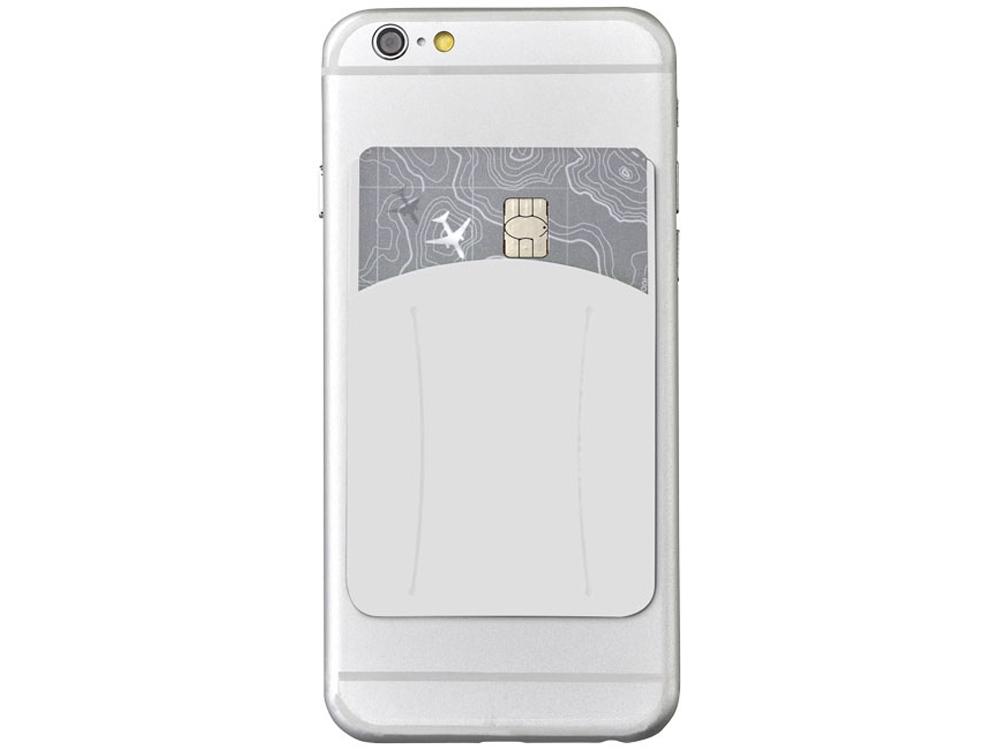 Картхолдер для телефона с отверстием для пальца, белый