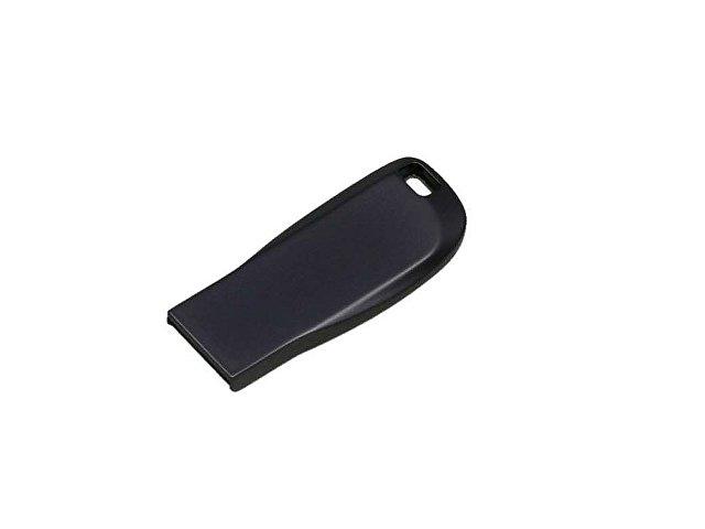 Флешка с мини чипом, компактный дизайн с овальным отверстием, 32 Гб, антрацит