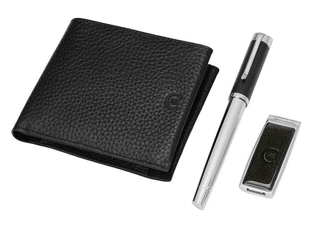 Набор Cerruti 1881: портмоне, ручка роллер, флеш-карта USB 2.0 на 4 Гб