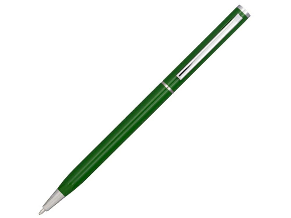 Ручка металлическая шариковая Slim, зеленый
