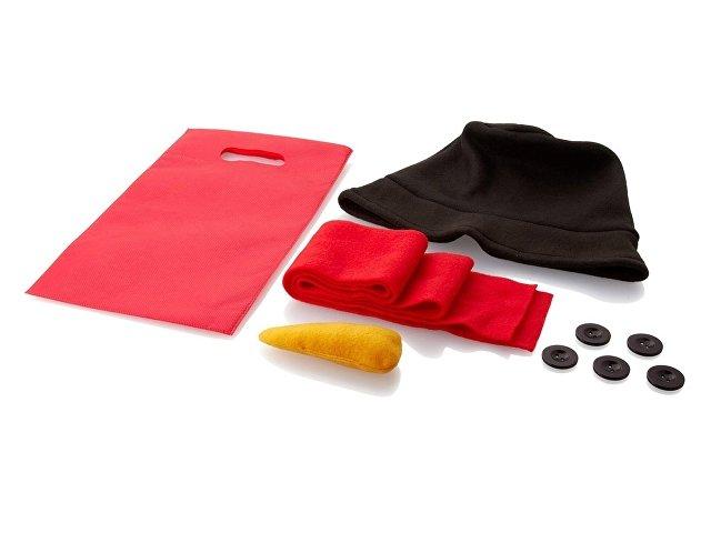 Набор аксессуаров для снеговика: шапка, шарф, морковка, пуговицы