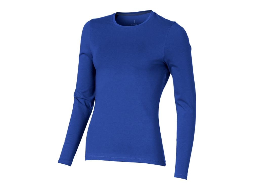 Футболка Ponoka  женская с длинным  рукавом, синий