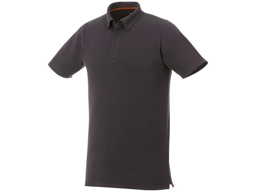 Мужская футболка поло Atkinson с коротким рукавом и пуговицами, серый графитовый