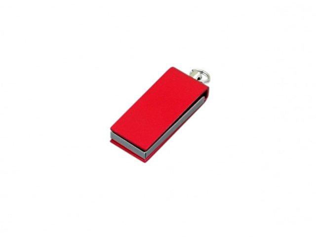 Флешка с мини чипом, минимальный размер, цветной  корпус, 64 Гб, красный