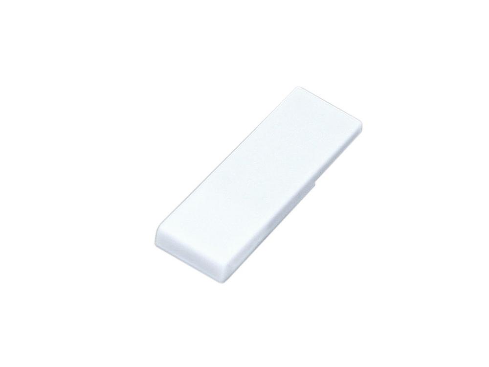 Флешка промо в виде скрепки, 16 Гб, белый